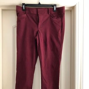 Loft Burgundy size 12 pants